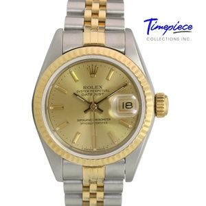"""Rolex Women""""s Datejust Champagne Dial 26mm"""